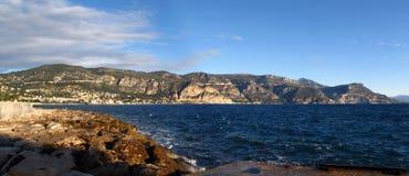 Paisaje marino panorámico Imagen de archivo libre de regalías