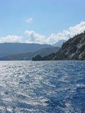 Paisaje marino pintoresco cerca de Olympos, Turquía imagenes de archivo