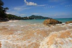 Paisaje marino, playa de Surin, Phuket fotografía de archivo libre de regalías