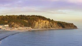 Paisaje marino Pueblo de Olginka El Mar Negro Imagen de archivo libre de regalías