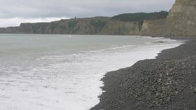 Paisaje marino Reserva de Gannet de los secuestradores del cabo Isla del norte En alguna parte en Nueva Zelandia almacen de video