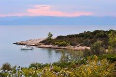Paisaje marino sereno en Grecia foto de archivo libre de regalías