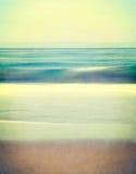 Paisaje marino texturizado del vintage Fotografía de archivo