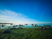 Paisaje marino tranquilo hermoso Imagen de archivo libre de regalías