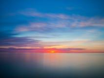 Paisaje marino tranquilo hermoso Fotos de archivo libres de regalías