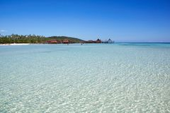 Paisaje marino tropical hermoso en el archipiélago de Derawan fotografía de archivo