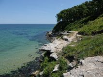 Paisaje marino y rocas cerca de Primorsko Imagen de archivo libre de regalías