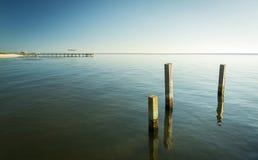 Paisaje minimalista del océano Fotos de archivo