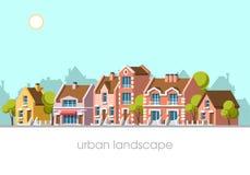 Paisaje moderno de la ciudad Imagen de archivo libre de regalías