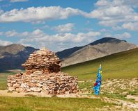 Paisaje mongol Fotos de archivo libres de regalías