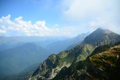 Paisaje, montañas foto de archivo