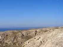 Paisaje montañoso de Krk, Croacia Fotografía de archivo libre de regalías