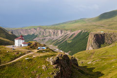 Paisaje montañoso en el Cáucaso Imágenes de archivo libres de regalías