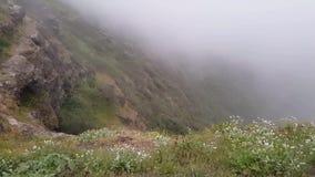 Paisaje montañoso verdoso hermoso almacen de metraje de vídeo