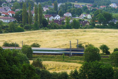 Paisaje montado tren imagen de archivo