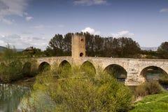Paisaje natural, campos de Frias en ³ n de Burgos, Castilla y Leà españa Imágenes de archivo libres de regalías