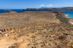 Paisaje natural de la isla Imeri Gramvousa Foto de archivo libre de regalías