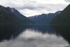 Paisaje natural de Noruega, Europa del Norte Foto de archivo