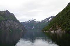 Paisaje natural de Noruega, Europa del Norte Imagenes de archivo