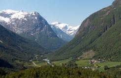 Paisaje natural de Noruega de la naturaleza hermosa aéreo fotografía de archivo libre de regalías