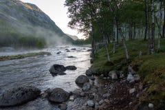 Paisaje natural de Noruega de la naturaleza hermosa aéreo foto de archivo libre de regalías