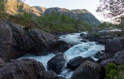 Paisaje natural de Noruega de la naturaleza hermosa aéreo imagen de archivo