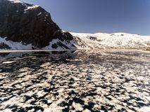 Paisaje natural de Noruega de la naturaleza hermosa Lago aéreo Djupvatne imagen de archivo