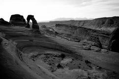 Paisaje natural del anfiteatro del arco delicado Foto de archivo libre de regalías