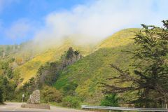 Paisaje natural hermoso de la montaña en el parque nacional en los E.E.U.U. foto de archivo
