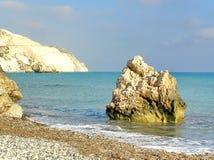 Paisaje natural Visión desde la costa costa de la isla de Chipre imágenes de archivo libres de regalías