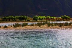 Paisaje, naturaleza, China, Tíbet foto de archivo libre de regalías