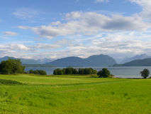 Paisaje Nesjestranda de Noruega Imagen de archivo libre de regalías
