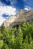 Paisaje Nevada de las montañas de la primavera Imagenes de archivo