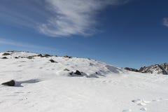 Paisaje Nevado, cocinero National Park, Nueva Zelanda del sur del soporte Foto de archivo