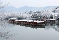 Paisaje nevado en Hangzhou imagen de archivo libre de regalías