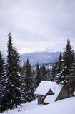 Paisaje Nevado en las montañas. Fotografía de archivo libre de regalías