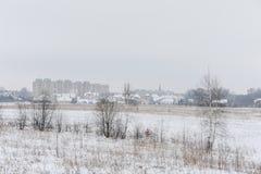 Paisaje Nevado en Lituania imagen de archivo libre de regalías