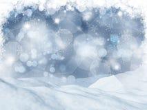paisaje nevoso 3D stock de ilustración