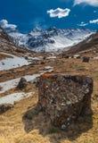 Paisaje nevoso Francia de la monta?a imágenes de archivo libres de regalías