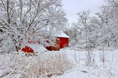 Paisaje nevoso hermoso del invierno Imagenes de archivo