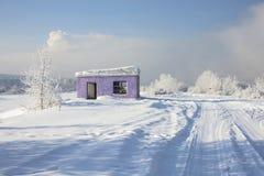 Paisaje nevoso hermoso del invierno Imagen de archivo