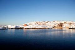 Paisaje Noruega del invierno fotografía de archivo