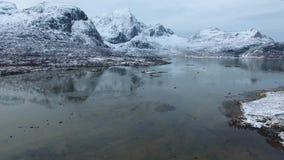 Paisaje noruego del invierno en Lofoten metrajes