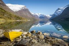 Paisaje noruego idílico Fotos de archivo