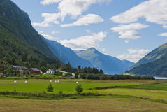 Paisaje noruego imponente de la montaña Fotografía de archivo
