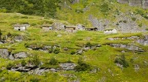 Paisaje noruego imponente de la montaña Imagen de archivo libre de regalías