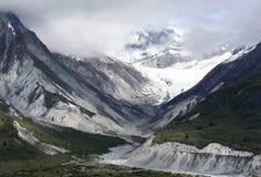 Paisaje nublado del Glacier Bay del ` s de Alaska Imagenes de archivo