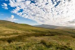 Paisaje nublado en los valles de Yorkshire, Reino Unido Imagen de archivo libre de regalías