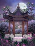 Paisaje oriental 3 ilustración del vector