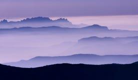 Paisaje púrpura Fotografía de archivo libre de regalías